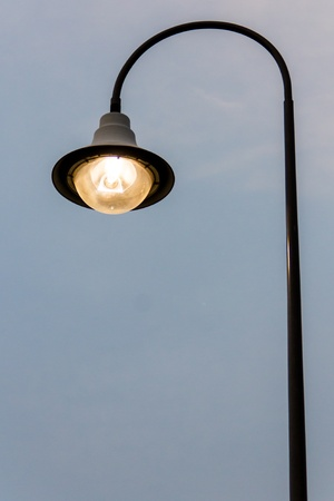 Street lamp in town for brightness of people  2 photo