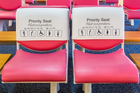 a public notice: Priority seat for special person