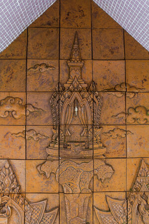 Sculpture of pavilion fot the rest on the wall Stock Photo - 29280729