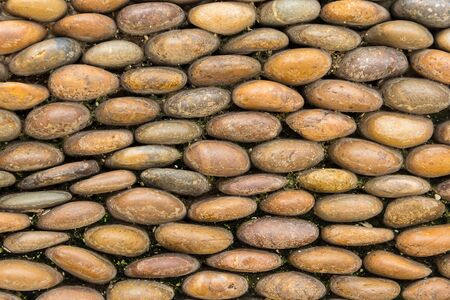 limestone: Small stone on the wall as background Stock Photo