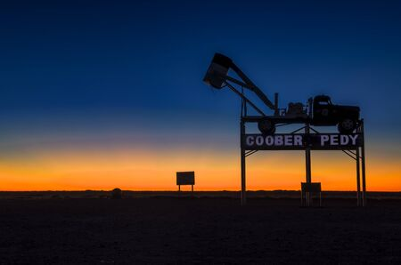 stunning sunset coober pedy in south australia