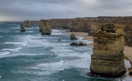 limestone stacks off the shore of Port Campbell Australia