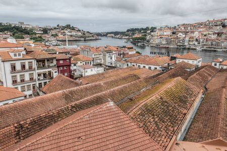 view over roofs historical part of porto port-winemaker area