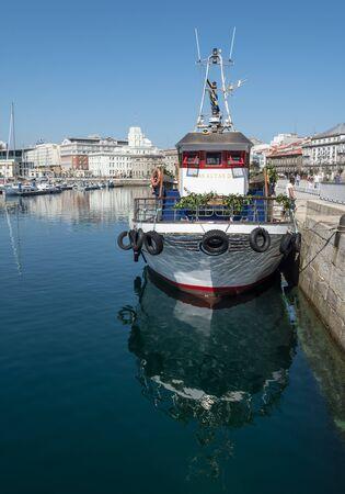 port harbor marina a coruna vacation roadtrip summer galicia spain