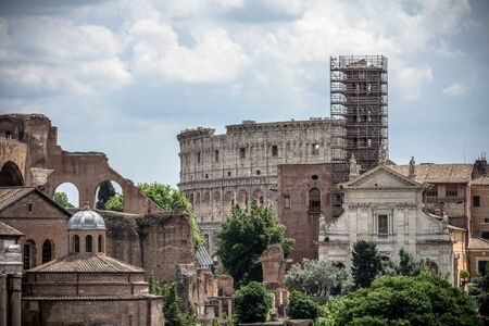 panoramic photography of most popular building in rome colosseum ancient architecture italy