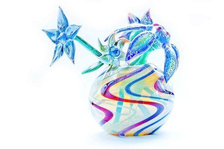blown: Handmade Blown Glass Flower Art Stock Photo