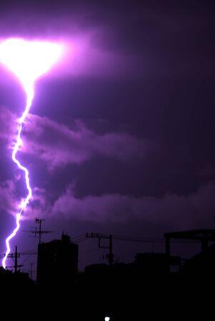 雷のボルト 写真素材