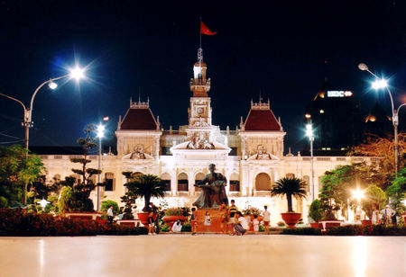 City Hall: Ho Chi Mhin City (Saigon) Stock Photo