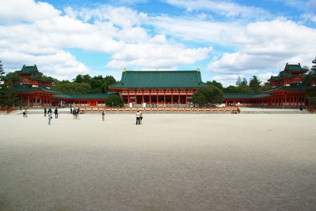 Heian-Jingu Shrine in Kyoto Stock Photo