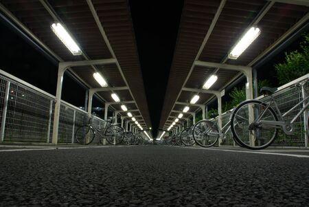 perspectiva lineal: Parque de bicicletas