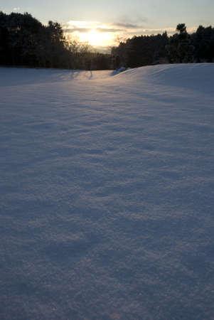 sunrise on snowfield Stock Photo - 2513448