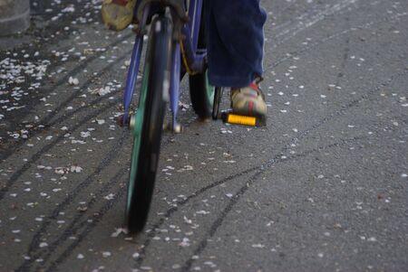 boy and bike 版權商用圖片