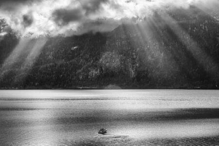 sailling: Boat sailling on the lake