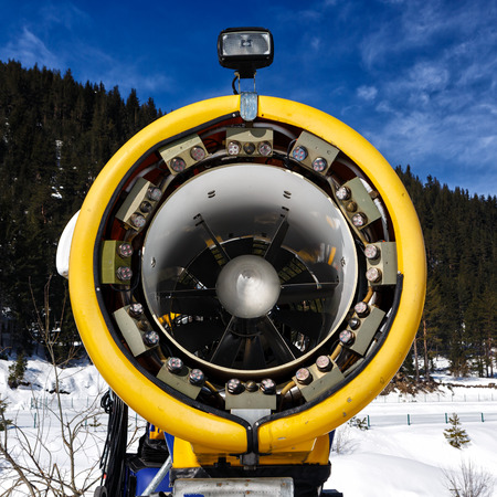 forcing: Snowmaking is the production of snow by forcing water