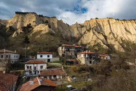 Earth Pyramids - sandstone rock formaitons surrounding the town of Melnik in Bulgaria