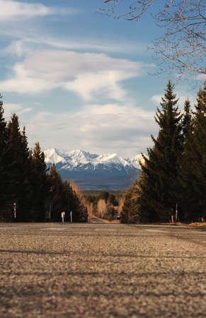 bridger: The road to the mountain. Autumn 2010. Stock Photo