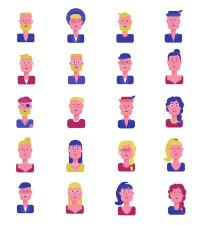 Icon set of characters
