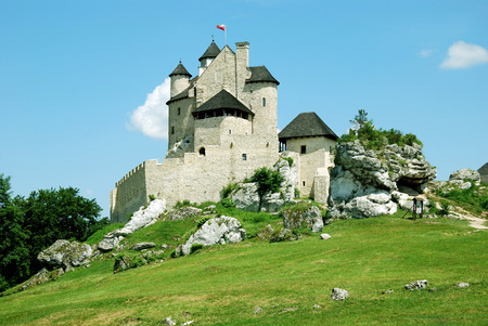 Castle on the hill - Bobolice Castle, Poland, Europe