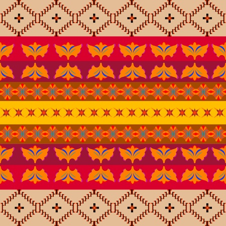 African pattern full of color Vector