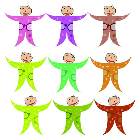 Children simple draw over white background Vector