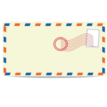 Simple envelope back side wver white background Illustration