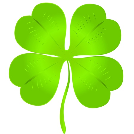 Simple luck clover over white background for St. Patrick`s day Vector