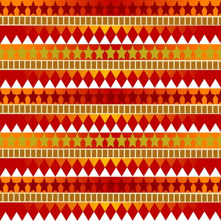 Seamless star-trot pattern with red-orange-green gradient