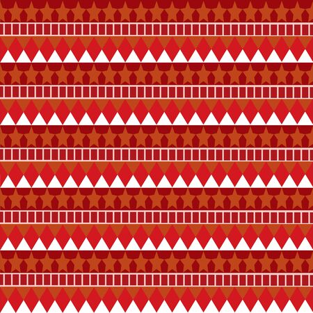 Seamless star-trot pattern with red-orange colors