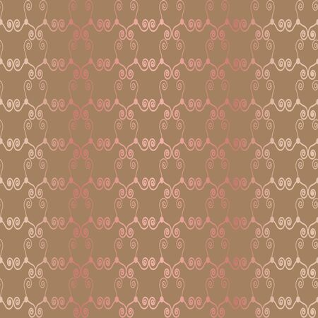 Vintage decor pattern made of celtic symbols with pink gradient Illustration