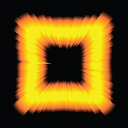 Psychedelic Light Square over black background