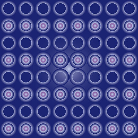 powerfull: Seamless cyrcle pattern with blue gradient