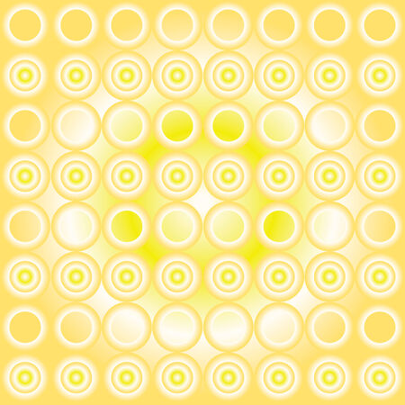 powerfull: Seamless cyrcle pattern with yellow gradient