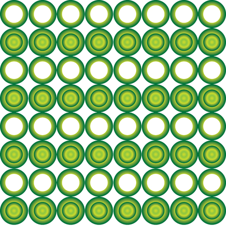 Seamless cyrcle pattern with green gradient