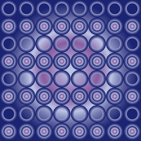Seamless cyrcle pattern with blue gradient