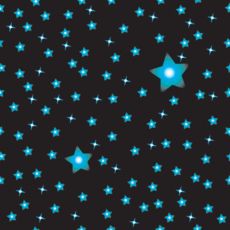 Simple black sky with gradient stars pattern