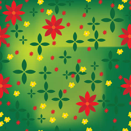 funn: Abstract flower pattern with green background