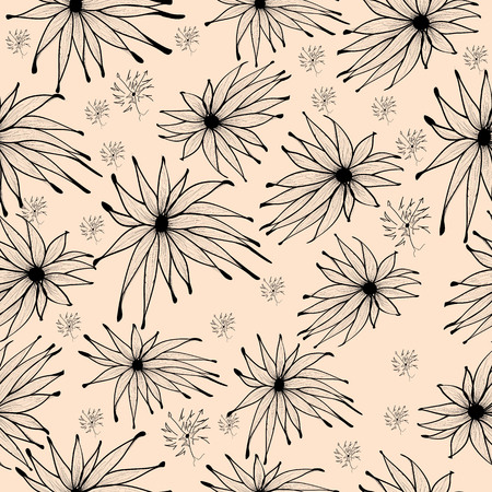 Seamless background pattern with edelweiss