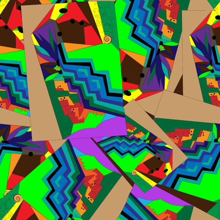 Abstract geometric colorful seamless unique design