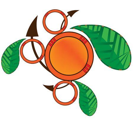 Abstract logo leaf design