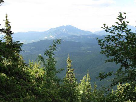 Beautiful summer mountain landscape Stock Photo