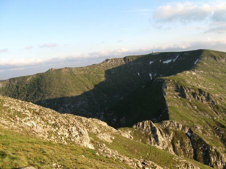 Beautiful summer mountain ridge  landscape