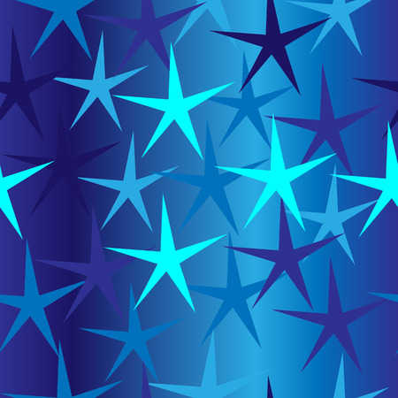Seamless blue background with stars
