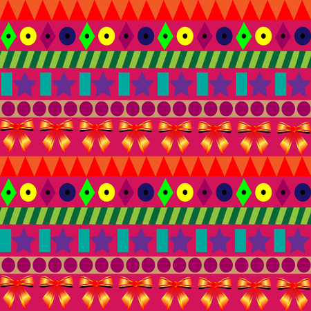 A Seamless colorful pattern for celebrations with strips. Ilustrace