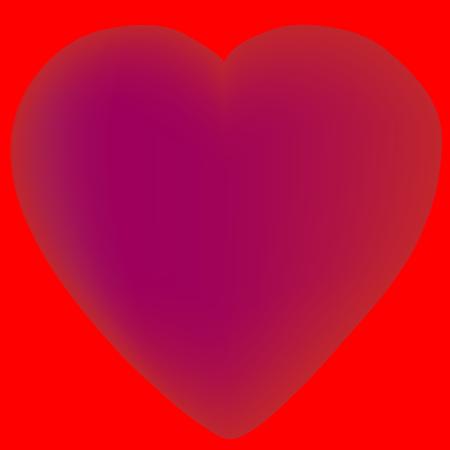 Aislado corazón diseño vector hecho con malla Foto de archivo - 82050607