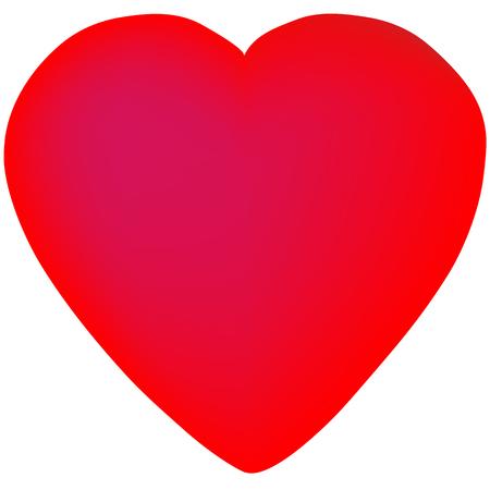 Aislado corazón diseño vector hecho con malla Foto de archivo - 82050160
