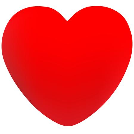 Aislado corazón diseño vector hecho con malla Foto de archivo - 82020587