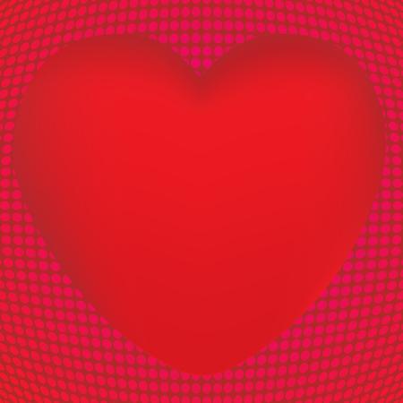 Aislado corazón diseño vector hecho con malla Foto de archivo - 82073047