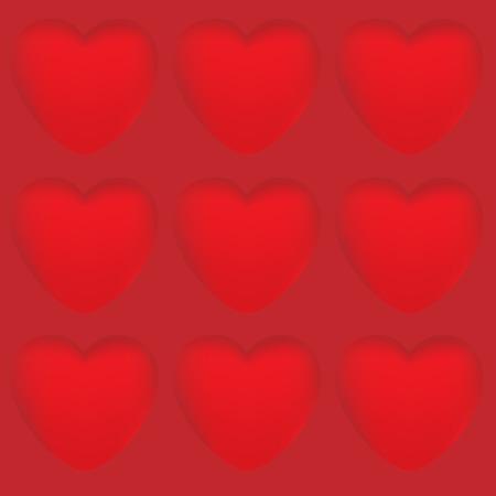 Aislado corazón diseño vector hecho con malla Foto de archivo - 82073048