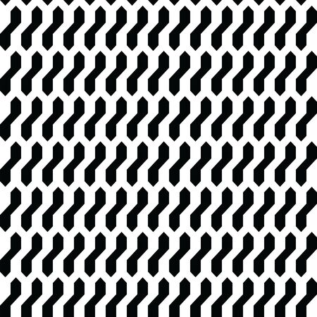 Seamless abstract geometric pattern design ; black shapes over white background vector illustration
