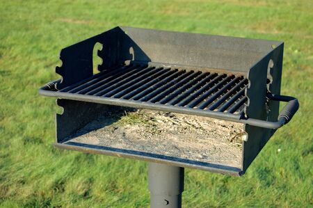 charcoal grill at park